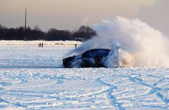 ολίσθηση γραμμών πάγου Στοκ Φωτογραφίες