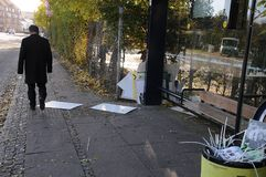ΟΛΕΣ ΟΙ ΕΚΛΟΓΕΣ PLAYCARD ΤΟΥ ΣΥΜΒΟΥΛΙΟΥ ΚΟΜΜΆΤΩΝ ΣΕ LARGRAVE PLADS Στοκ εικόνα με δικαίωμα ελεύθερης χρήσης
