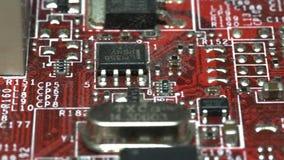 Ολισθαίνων ρυθμιστής που πυροβολείται ενός υπολογιστή mainboard απόθεμα βίντεο