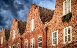 Ολλανδικά σπίτια στο Πότσνταμ Στοκ Εικόνα