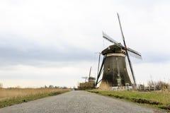 Ολλανδικός ανεμόμυλος, Leidschendam κοντά στη Χάγη Στοκ εικόνα με δικαίωμα ελεύθερης χρήσης