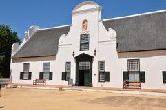 Ολλανδικό αγροτικό σπίτι Νότια Αφρική ακρωτηρίων Constantia Στοκ εικόνα με δικαίωμα ελεύθερης χρήσης