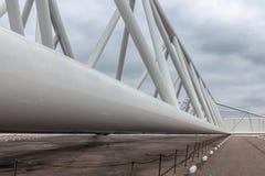 Ολλανδικό εμπόδιο κύματος θύελλας λεπτομέρειας που προστατεύει το λιμάνι του Ρότερνταμ Στοκ εικόνα με δικαίωμα ελεύθερης χρήσης