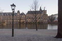 Ολλανδικό τμήμα των Κοινοβουλίων με τα δέντρα στοκ εικόνες