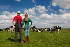 ολλανδικό τοπίο αγροτών χαρακτηριστικό Στοκ φωτογραφία με δικαίωμα ελεύθερης χρήσης