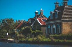 Ολλανδικό τοπίο στο καλοκαίρι Στοκ Εικόνες