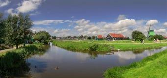 ολλανδικό χωριό πανοράματος Στοκ Εικόνες