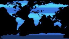 Ολογραφικός επίδειξης γήινων σφαιρών άνευ ραφής βρόχων δυναμικός ζωντανεψοντας ζωηρόχρωμος χαρούμενος ποιοτικών καθολικός κινήσεω απεικόνιση αποθεμάτων
