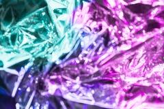 Ολογραφικό υπόβαθρο σύστασης ύφους Vaporwave: ρόδινη φοβιτσιάρης σύσταση χρωμάτων νέου στοκ φωτογραφίες με δικαίωμα ελεύθερης χρήσης