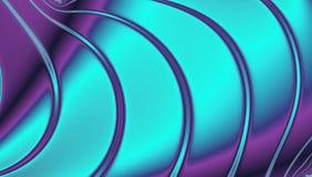 Ολογραφικό υπόβαθρο φύλλων αλουμινίου στην υπεριώδη ακτίνα, το μπλε νέου και τις γραμμές κιρκιριών Στοκ Φωτογραφία