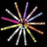 Ολοκαίνουργια κραγιόνια Crayola στοκ φωτογραφία με δικαίωμα ελεύθερης χρήσης