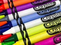 Ολοκαίνουργια κραγιόνια Crayola στοκ εικόνες
