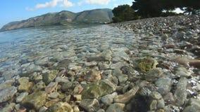 Ολυμπία Beach στο νησί Ελλάδα Kefalonia απόθεμα βίντεο
