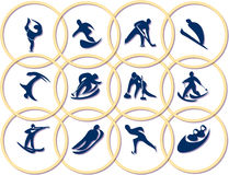 ολυμπιακά σύμβολα παιχνιδιών Στοκ φωτογραφίες με δικαίωμα ελεύθερης χρήσης