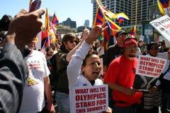 ολυμπιακή διαμαρτυρία SAN Francisco Στοκ φωτογραφία με δικαίωμα ελεύθερης χρήσης