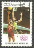 Ολυμπιακοί Αγώνες Μόντρεαλ, καλαθοσφαίριση Στοκ εικόνα με δικαίωμα ελεύθερης χρήσης