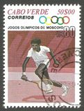 Ολυμπιακοί Αγώνες, Μόσχα, αντισφαίριση Στοκ εικόνες με δικαίωμα ελεύθερης χρήσης