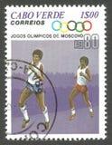 Ολυμπιακοί Αγώνες, Μόσχα, τρέξιμο Στοκ εικόνες με δικαίωμα ελεύθερης χρήσης
