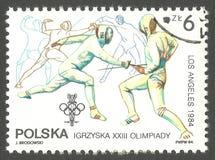 Ολυμπιακοί Αγώνες στο Λος Άντζελες, περίφραξη Στοκ φωτογραφίες με δικαίωμα ελεύθερης χρήσης