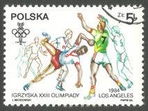 Ολυμπιακοί Αγώνες στο Λος Άντζελες, χάντμπολ Στοκ φωτογραφία με δικαίωμα ελεύθερης χρήσης