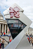 Ολυμπιακοί Αγώνες του Λονδίνου αντίστροφης μέτρησης ρολογιών Στοκ Εικόνες
