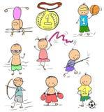 Ολυμπιακοί Αγώνες doodle Στοκ φωτογραφία με δικαίωμα ελεύθερης χρήσης
