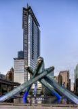 Ολυμπιακοί καζάνι και πύργος Shaw στοκ εικόνα με δικαίωμα ελεύθερης χρήσης