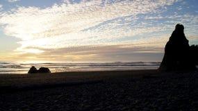 ΟΛΥΜΠΙΑΚΟ ΕΘΝΙΚΟ ΠΑΡΚΟ, ΗΠΑ, στις 3 Οκτωβρίου 2014 - ροδοκόκκινη παραλία κοντά στο Σιάτλ - την Ουάσιγκτον Στοκ φωτογραφία με δικαίωμα ελεύθερης χρήσης