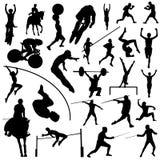ολυμπιακός αθλητισμός σκιαγραφιών Στοκ Εικόνες