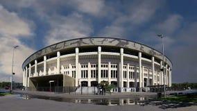 Ολυμπιακός σύνθετος Luzhniki σταδίων αθλητικών χώρων της Μόσχας μεγάλος -- Στάδιο για το Παγκόσμιο Κύπελλο της FIFA του 2018 στη  απόθεμα βίντεο