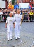 ολυμπιακός φανός ηλεκτρονόμων του Λονδίνου του 2012 Στοκ Εικόνα
