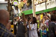 ολυμπιακός φανός του 2012 στοκ εικόνα με δικαίωμα ελεύθερης χρήσης