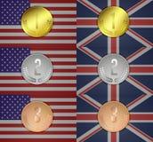 Ολυμπιακό μετάλλιο Στοκ Εικόνες