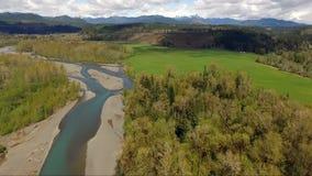 Ολυμπιακό πολιτεία της Washington σειράς βουνών ποταμών Skokomish νότιων δικράνων απόθεμα βίντεο