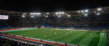 Ολυμπιακό στάδιο στη Ρώμη, Ιταλία στοκ εικόνες με δικαίωμα ελεύθερης χρήσης