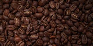 Ολόκληρα ψημένα φασόλια καφέ κατασκευασμένα Στοκ Φωτογραφίες