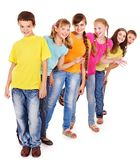 Ομάδα ανθρώπων εφήβων. στοκ φωτογραφία με δικαίωμα ελεύθερης χρήσης