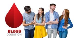 Ομάδα ανθρώπων και έννοια δωρεάς αίματος στοκ φωτογραφίες με δικαίωμα ελεύθερης χρήσης