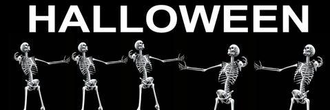 Ομάδα αποκριές 3 σκελετών Στοκ Εικόνες