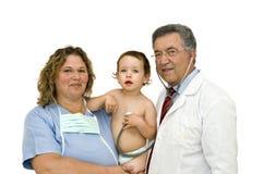 ομάδα γιατρών μωρών Στοκ Εικόνες