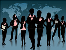 Ομάδα γυναίκας ελεύθερη απεικόνιση δικαιώματος