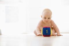 ομάδα δεδομένων μωρών που κάθεται στο εσωτερικό Στοκ Φωτογραφίες
