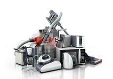 Ομάδα εγχώριων συσκευών καφέ μΑ σιδήρου μικροκυμάτων ηλεκτρικών σκουπών Στοκ Εικόνες