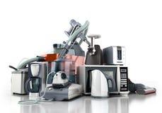 Ομάδα εγχώριων συσκευών καφέ μΑ σιδήρου μικροκυμάτων ηλεκτρικών σκουπών Στοκ Φωτογραφίες