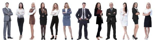 Ομάδα επιτυχών επιχειρηματιών που απομονώνονται στο λευκό στοκ φωτογραφία με δικαίωμα ελεύθερης χρήσης