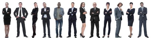 Ομάδα επιτυχών επιχειρηματιών που απομονώνονται στο λευκό στοκ φωτογραφία