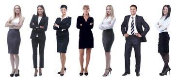 Ομάδα επιτυχών επιχειρηματιών που στέκονται σε μια σειρά στοκ φωτογραφία με δικαίωμα ελεύθερης χρήσης