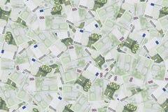 Ομάδα 100 ευρο- σημειώσεων υπόβαθρο των τραπεζογραμματίων σε 100 ευρώ Σύσταση χρημάτων 20 50 100 500 ευρο- ευρωπαϊκά νομίσματος στοκ εικόνα