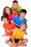Ομάδα ευτυχών παιδιών στοκ φωτογραφία