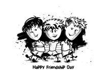 Ομάδα ευτυχών φίλων που απολαμβάνουν την ημέρα φιλίας ελεύθερη απεικόνιση δικαιώματος